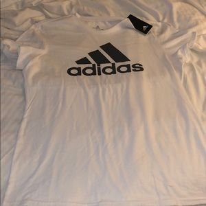 Adidas womens The go to logo tee white